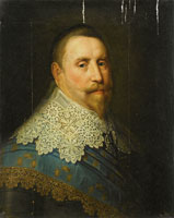 Copy after Michiel Jansz. Mierevelt Portrait of Gustav II Adolf, King of Sweden
