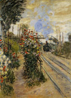 Claude Monet Arriving at Montgeron