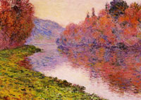 Claude Monet Banks of the Seine at Jeufosse, Bright Weather