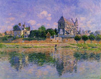 Claude Monet View of the Church at Vernon