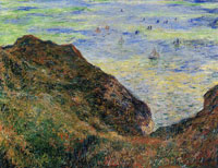 Claude Monet On the Cliff at Pourville