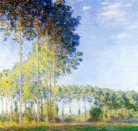 Claude Monet Poplars on the banks of the River Epte, as seen from the Marsh