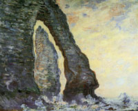 Claude Monet The Rock Needle seen through the Porte d'Aval
