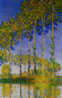 Claude Monet A Row of Poplars