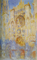Claude Monet Rouen Cathedral at the End of the Day, Sunlight Effect