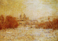 Claude Monet - View of Vétheuil in Winter