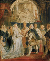 Peter Paul Rubens The Marriage by Proxy (5. October 1600)