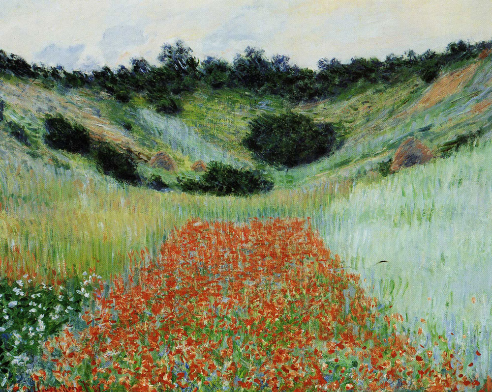Claude Monet - Poppy Field in a Hollow near Giverny