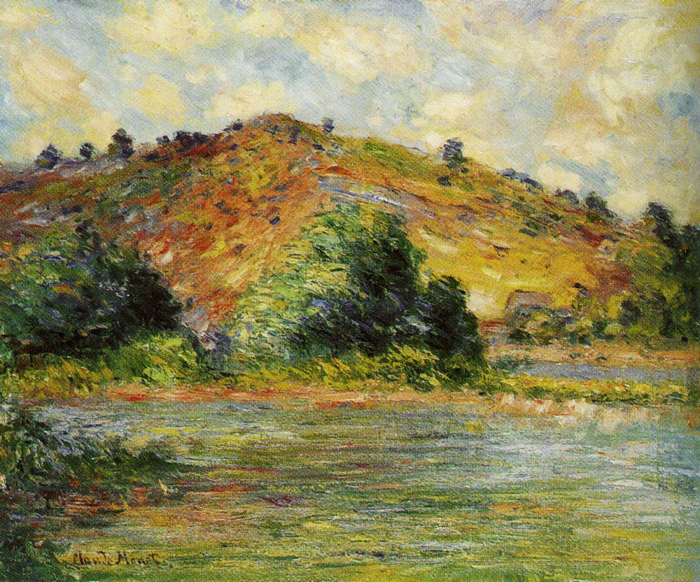 Formerly attributed to Claude Monet - The Banks of the Seine at Port-Villez