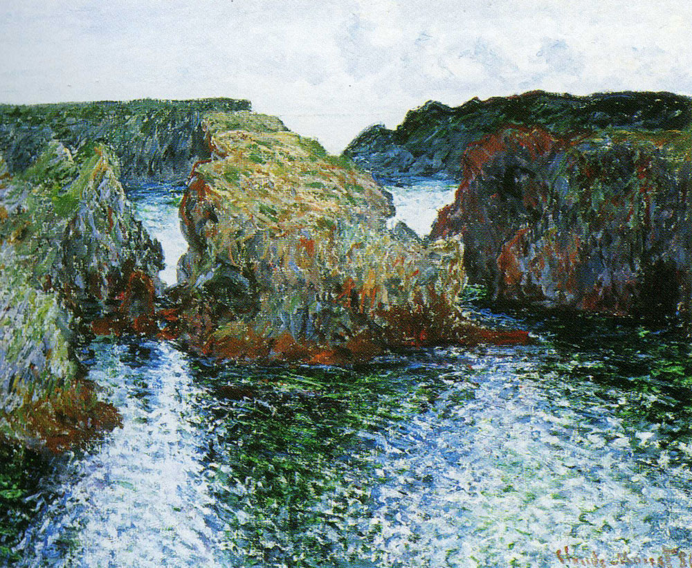 Claude Monet - Belle-Ile: Rocks at Port-Goulphar