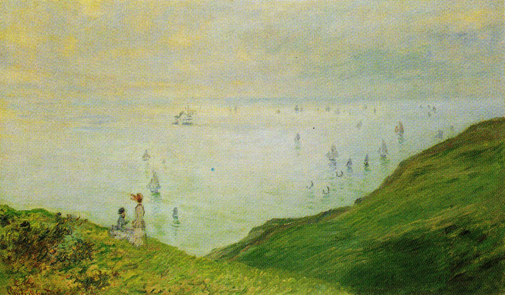 Claude Monet - On the Cliff at Dieppe