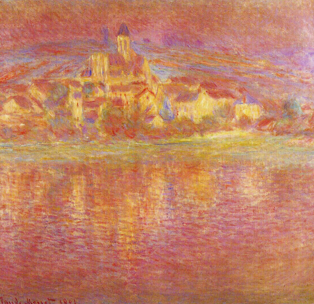Claude Monet - Vétheuil, at Sunset