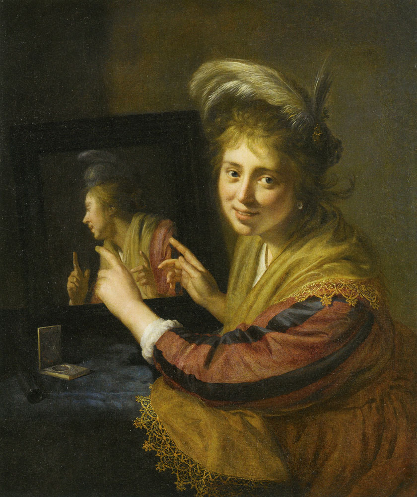 Paulus Moreelse - Girl at the Mirror