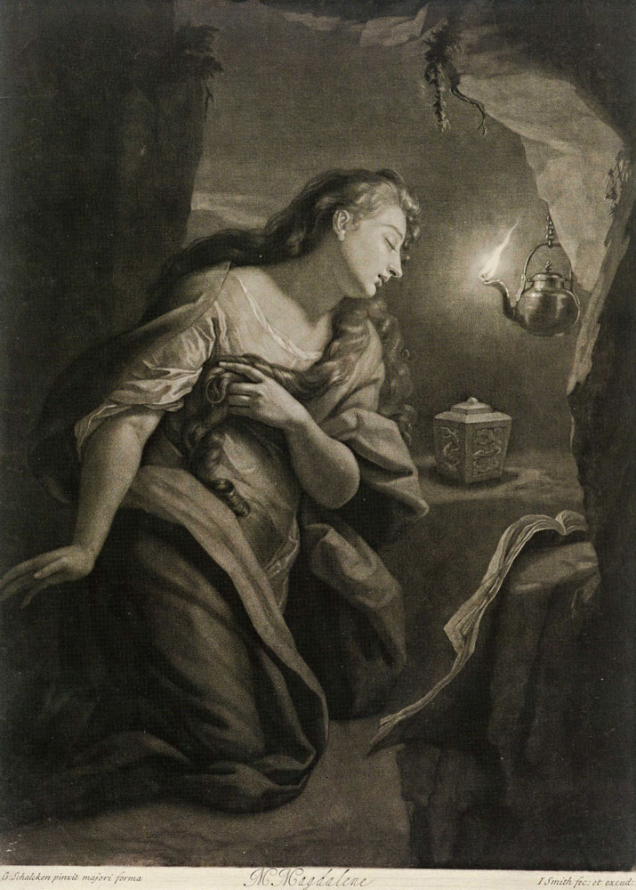 John Smith after Godfried Schalcken - The Penitent Magdalene