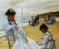 Claude Monet On the Beach at Trouville