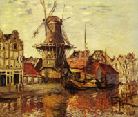 Claude Monet The Windmill on the Onbekende Gracht