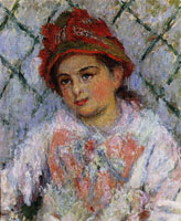 Claude Monet Blanche Hoschedé as a Young Girl