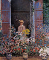 Claude Monet Camille Monet at the Window