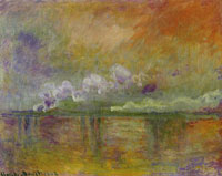 Claude Monet Charing Cross Bridge, Smoke in Fog, Impression