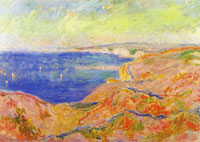 Claude Monet On the Cliff near Dieppe