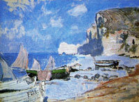Claude Monet Fishing Boats at Etretat