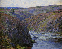 Claude Monet Gorge of the Creuse at the End of the Day