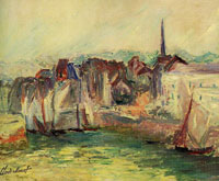 Claude Monet Boats in the Port of Honfleur (Sketch)