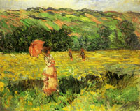 Claude Monet - Meadow at Limetz