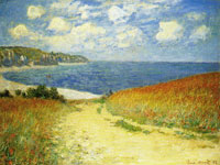 Claude Monet Path in the Wheat Fields at Pourville