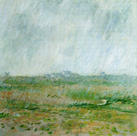 Claude Monet - Rain at Belle-Ile