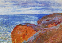 Claude Monet Reflections on the Sea near Dieppe