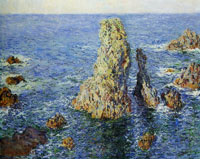 Claude Monet Rocks at Belle-Ile