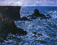 Claude Monet Rocks at Port-Coton, the Lion