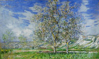 Claude Monet Pear Trees in Blossom