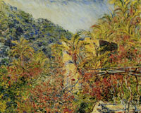 Claude Monet The Valley of Sasso, Sunlight Effect