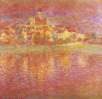 Claude Monet Vétheuil, at Sunset