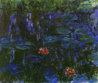 Claude Monet Water-Lilies, Reflections of Weeping Willows
