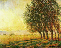 Claude Monet Willows at Sunset