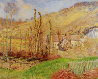 Claude Monet Winter Landscape at the Val de Falaise