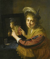 Paulus Moreelse Girl at the Mirror