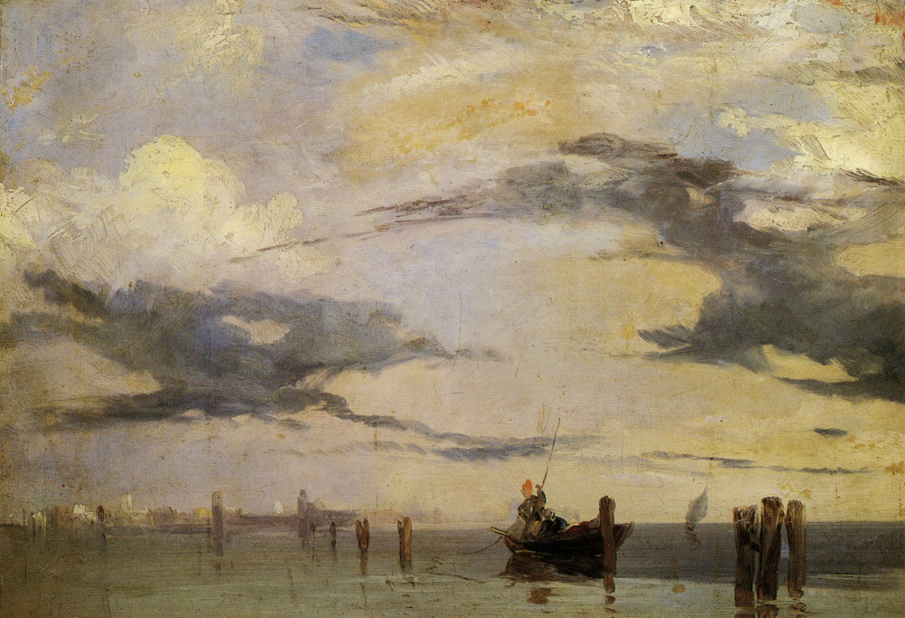 Richard Parkes Bonington - View of the Lagoon of Venice