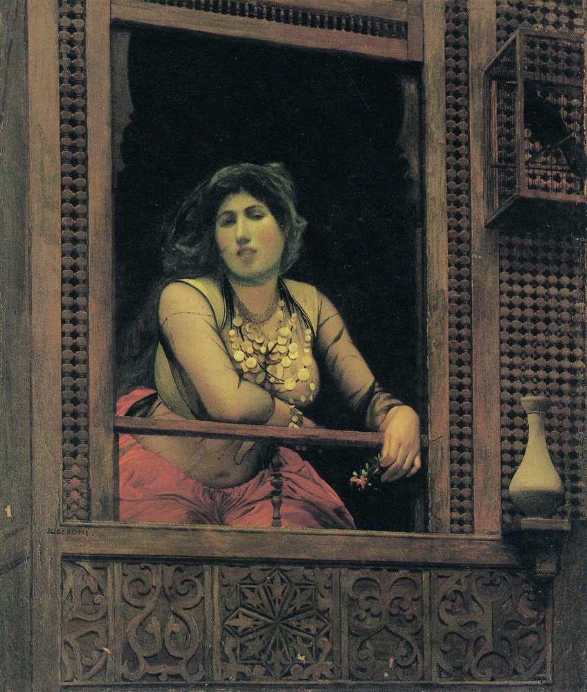 Jean-Léon Gérôme - Almeh at the Window of Her Moucharabieh