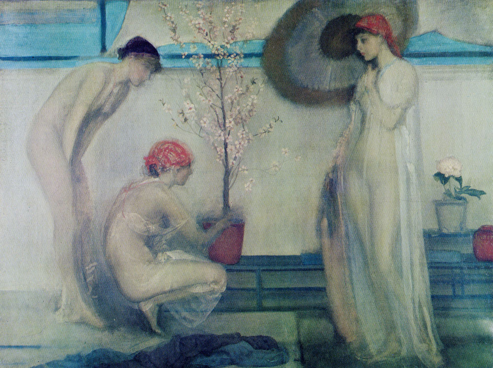 James Abbott McNeill Whistler - Pink and Grey: Three Figures