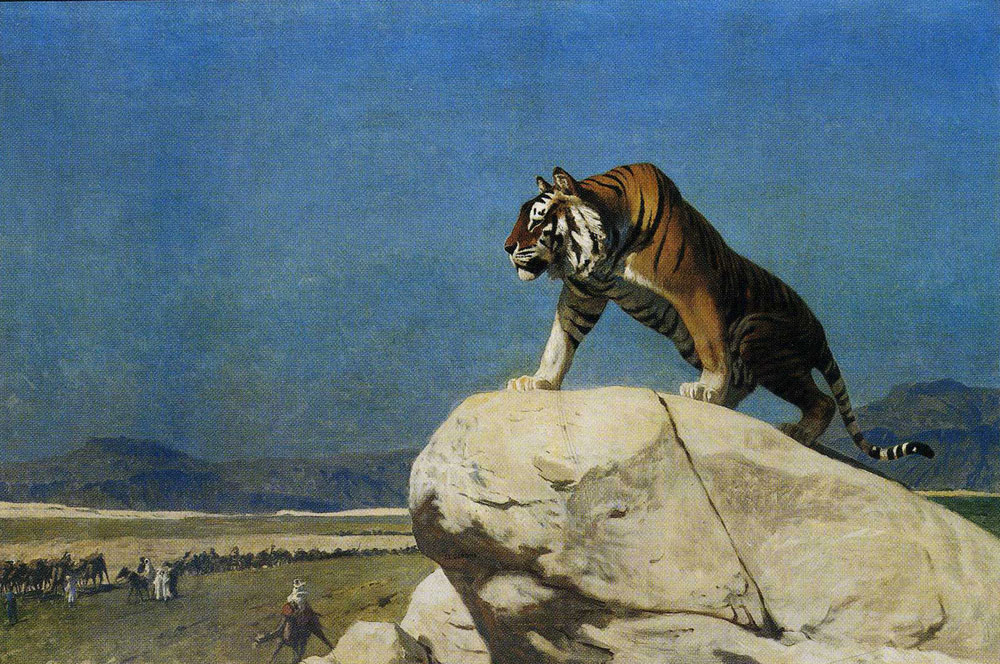 Jean-Léon Gérôme - Tiger on the Watch