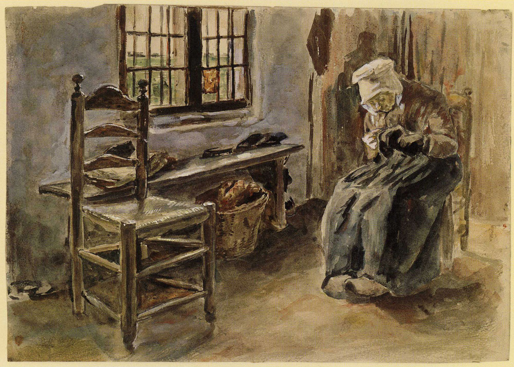 Max Liebermann - Sewing Woman at the Window