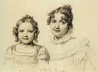 Jacques-Louis David Portrait of Pauline-Jeanne Jeanin, née David, and Her Daughter Émilie