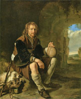 Frans van Mieris Traveler at Rest