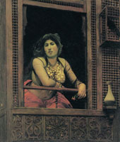 Jean-Léon Gérôme Almeh at the Window of Her Moucharabieh