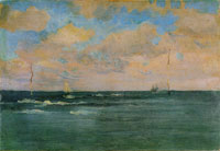 James Abbott McNeill Whistler The Bathing Posts, Brittany