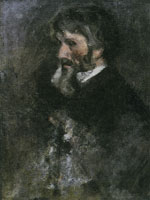 James Abbott McNeill Whistler Study for the Head of Carlyle